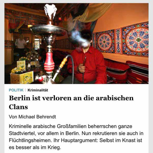 Berlin ist verloren an die arabischen Clans. Ganze Stadtviertel werden von den kriminellen Araber-Clans beherrscht. Nun rekrutieren sie auch in Flüchtlingsheimen. #Date:04.2016#