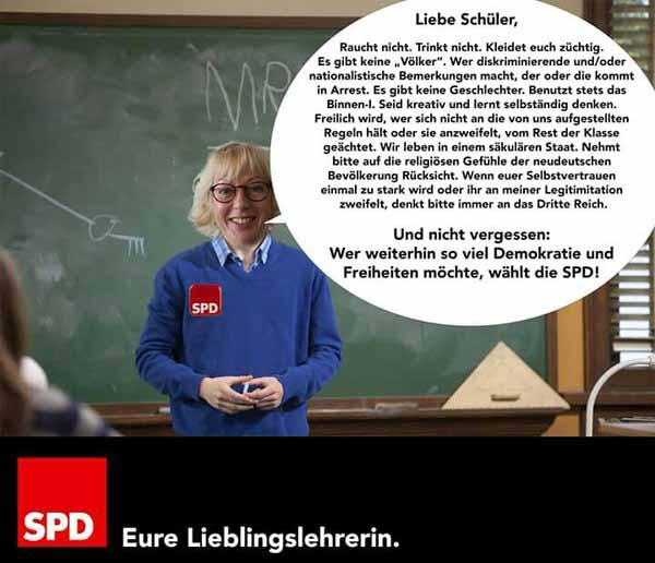 Schulunterricht nach Art der SPD. Drum wählt die SPD keiner mehr #Date:04.2016#