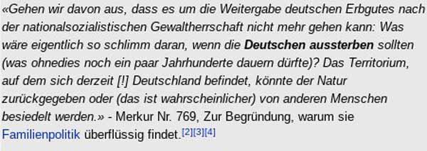 Ute Sacksofsky ist Vizepräsidentin am Staatsgerichtshof und sagt, dass sich Deutsche wegen der Nazis nicht mehr fortpflanzen dürfen und Deutschland der Natur zurückgegeben werden sollte oder von anderen Menschen besiedelt werden sollte. #Date:04.2016#