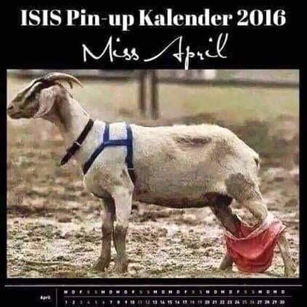 PinUp-Kalender für Islamisten. Geilllll #Date:04.2016#