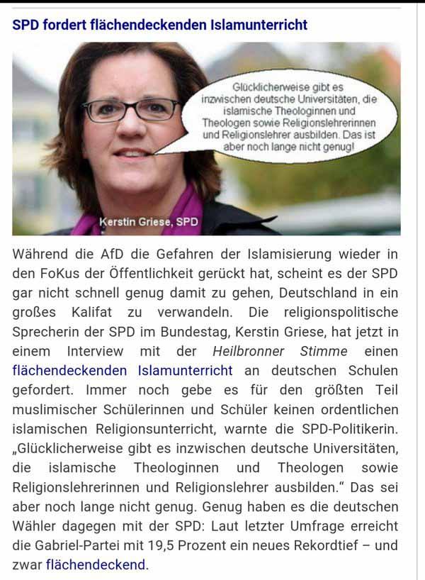 Die SPD fordert einen flächendeckenden Islamunterricht in Deutschland. Ein weiterer Grund für den Niedergang der SPD #Date:04.2016#