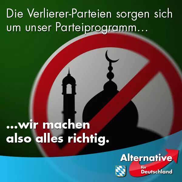 Die Verlierer-Parteien machen sich Sorgen  um das Parteiprogramm der Alternative für Deutschland AfD. Für die AfD heisst das: wir machen alles richtig. #Date:04.2016#