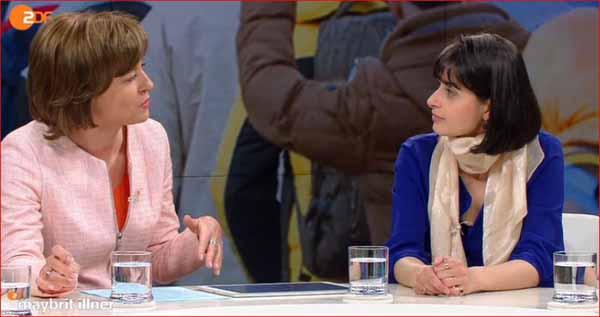 Die Super-Muslima el Masrar im Gespräch mit Maybritt Illner 21.4.16. Das Mädel ist der überheblichen Ansicht, dass AfD-Leute Angst vor Moslems haben. Bitte speichern kleine Klugscheisserin: Sicher nicht. #Date:04.2016#