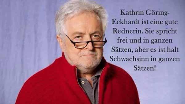 Kathrin Göring-Eckhardt  GRÜNE ist eine gute Rednerin. Sie kann in ganzen Sätzen sprechen. Aber es ist halt Schwachsinn in ganzen Sätzen #Date:04.2016#