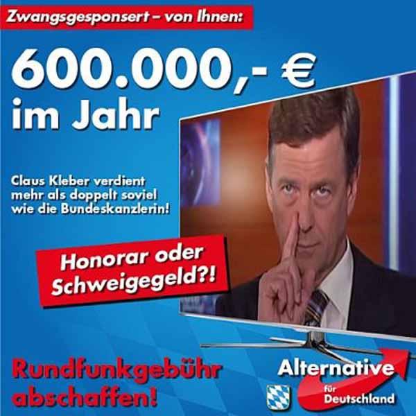 Claus Kleber ZDF verdient mehr als doppelt soviel wie die Bundeskanzlerin. Ist das Honorar oder Schweigegeld? 600.000 Euro. Rundfunkgebühr abschaffen. #Date:05.2016#