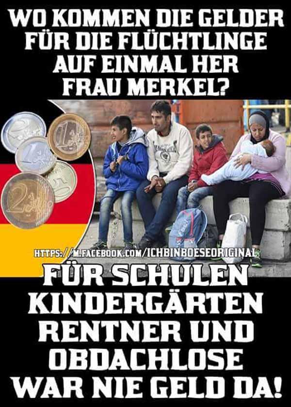 Wo kommt das Geld  für die Flüchtlinge auf einmal her. Nix für Kindergärten und Schulen. #Date:05.2016#