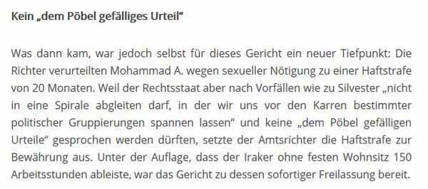 Deutsche Gerichte sind politisch und sprechen gnädige Urteile, um die Bürger (den Pöbel) nicht zu befriedigen #Date:05.2016#