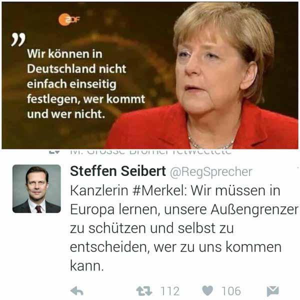 Die verlogene toxisch schizophrene Politik der Kanzlerin Merkel in einem Bild #Date:05.2016#