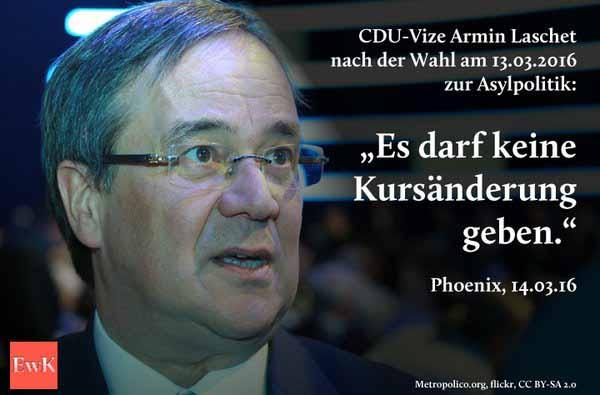 Armin Laschet CDU ein treuester Vasall der Verräterin Merkel #Date:05.2016#