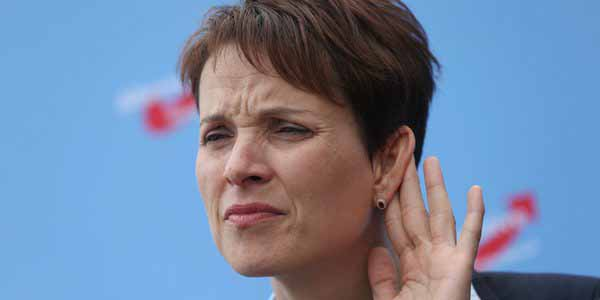 Sorry Hater, ich kann euch nicht hören, der Jubel meiner Fans ist zu laut. Frauke Petry, Alternative für Deutschland, AfD #Date:05.2016#