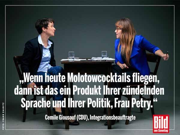 Cemile Giousouf, CDU, Integrationsbeauftragte, will AfD Alternative für Deutschland die Wahrheit austreiben. #Date:05.2016#