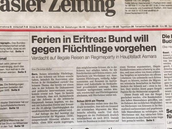 Sogenannte Flüchtlinge aus Eritrea machen mit unserem Geld Ferien in Eritrea. Deutschland krass pervers. #Date:05.2016#