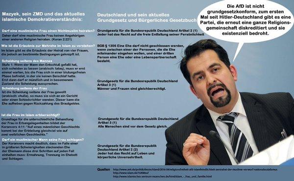 Der Zentralrat der Muslime in Deutschland und dessen Verständnis von Demokratie und westlichen Werten. #Date:05.2016#