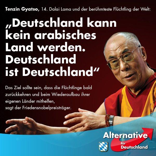 Friedennobelpreisträger Dalai Lama über Deutschland in Araberhand #Date:05.2016#