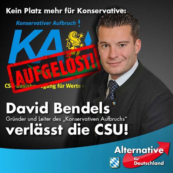 In der CSU kein Platz mehr für Konservative. Gründer und Leiter des >Konservativen Aufbruch< verlässt CSU. #Date:06.2016#