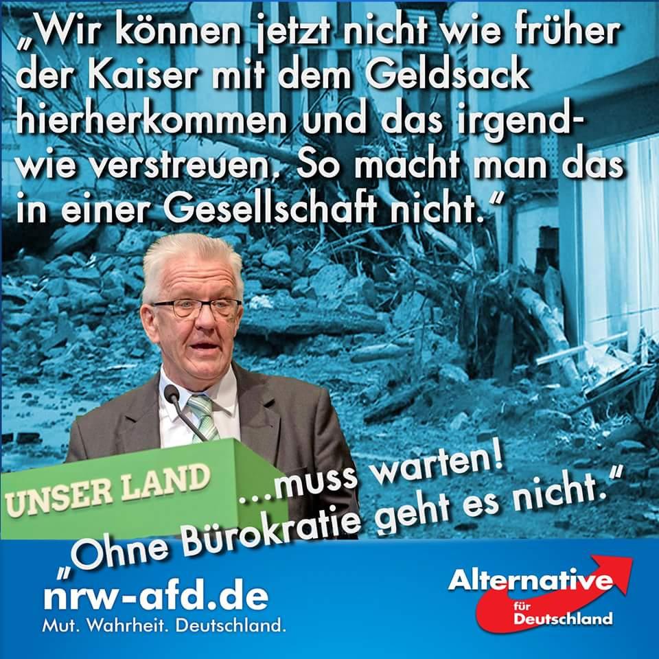 Der Grüne Ministerpräsident Kretschmann zu den Flutopfern von Mai/Juni 2016 im Südwesten. #Date:06.2016#