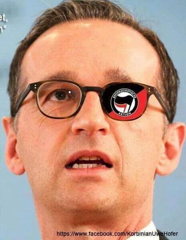 Bundesjustizminister Heiko Maas SPD mit deutlicher Wahrnehmungsschwäche auf dem linken Auge. #Date:06.2016#