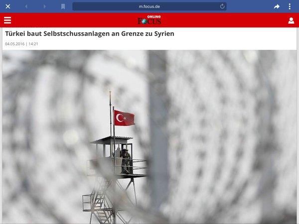 Türkei baut Selbstschussanlagen an der Grenze zu Syrien. Merkel hängt über den Flüchtlingsdeal mit drin. Was war das für ein Aufstand um den angeblichen Schießbefehl der AfD Alternative für Deutschland #Date:06.2016#