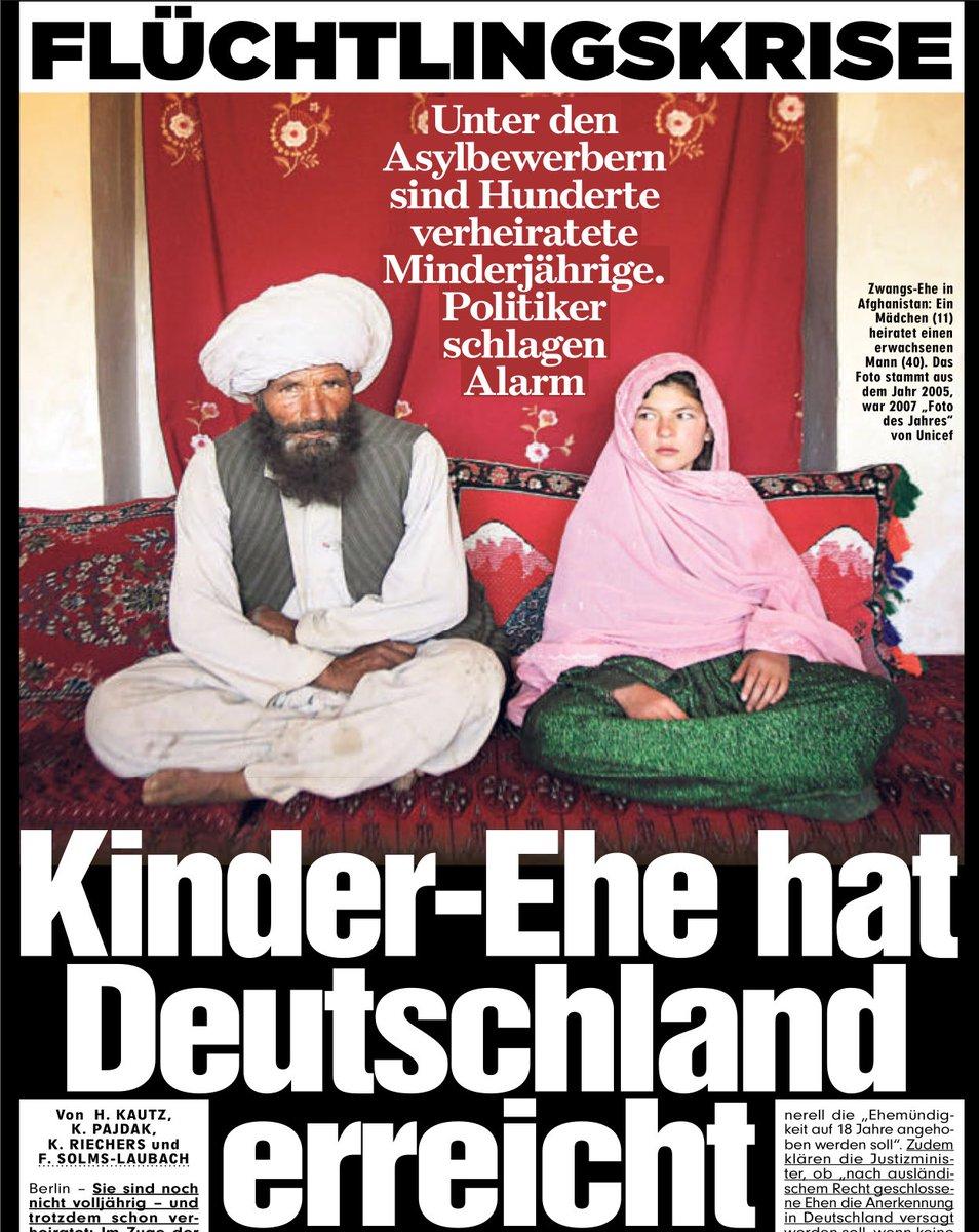 Im Ausland geschlossene islamische moslemische Kinderehen haben in Deutschland Bestand. Schande , um die uns die Moslem-Migranten bereichern. #Date:06.2016#