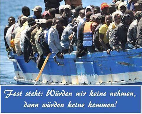 Massen-Invasion der Kulturbereicher. Einfache Gleichung: wenn wir keine nehmen, kommen auch keine Migranten #Date:06.2016#