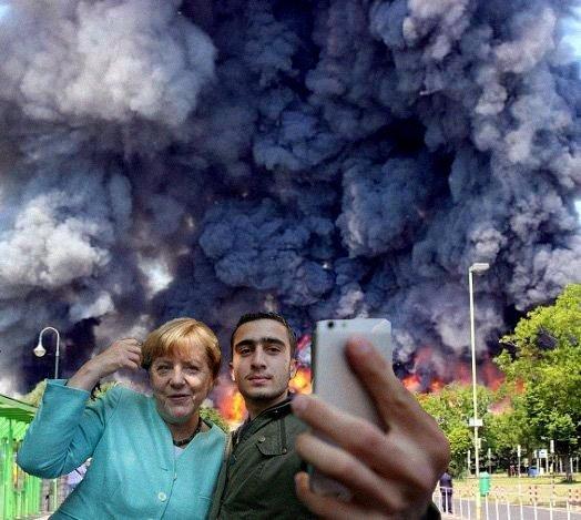 Merkel und ihr neues Volk. Lasst uns eine neue Regierung suchen. Merkel Muss Weg. #Date:06.2016#