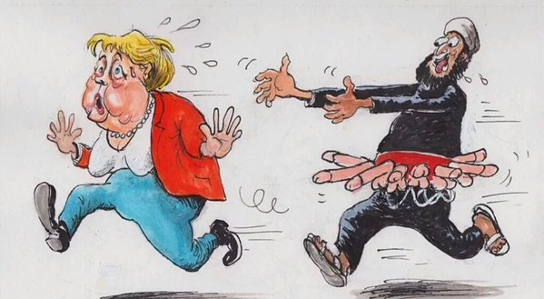Merkel und die Saat, die sie gesät hat. Schwanzgesteuerte Moslems auf der Jagd nach Sex. Rapefugees #Date:06.2016#