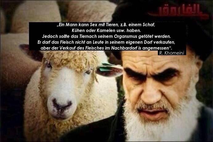 Der Moslem darf Sex mit Tieren haben. Danach muss das Tier geschlachtet und das Fleisch in weiterer Entfernung vom Dorf des Sodomisten verkauft werden. #Date:06.2016#