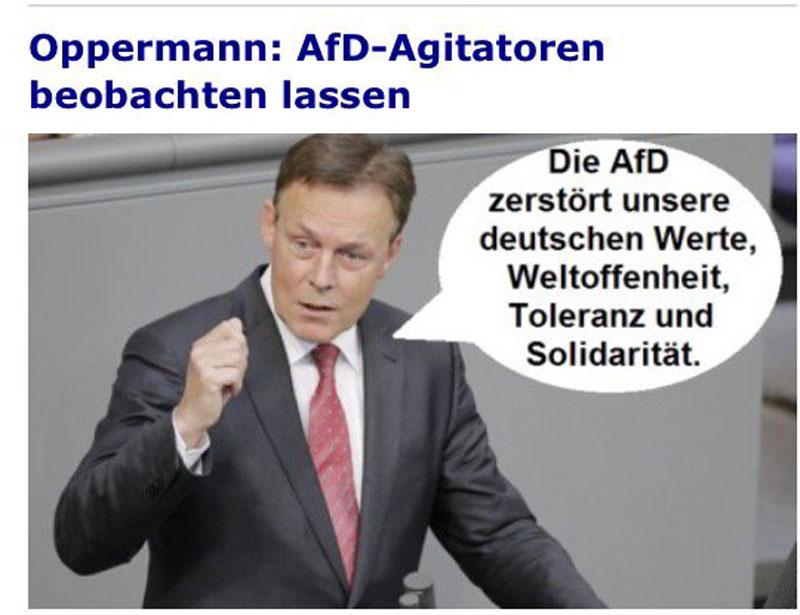 Thomas Oppermann , bekannt aus der Edathy-Affäre, und Fraktionsvorsitzender der SPD im Bundestag riskiert wieder die kesse Lippe. #Date:06.2016#