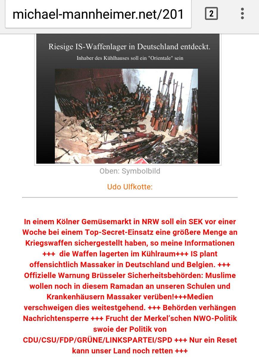 Funde von islamistischen Waffenlagern in Deutschland werden von den Behörden geheimgehalten. #Date:06.2016#