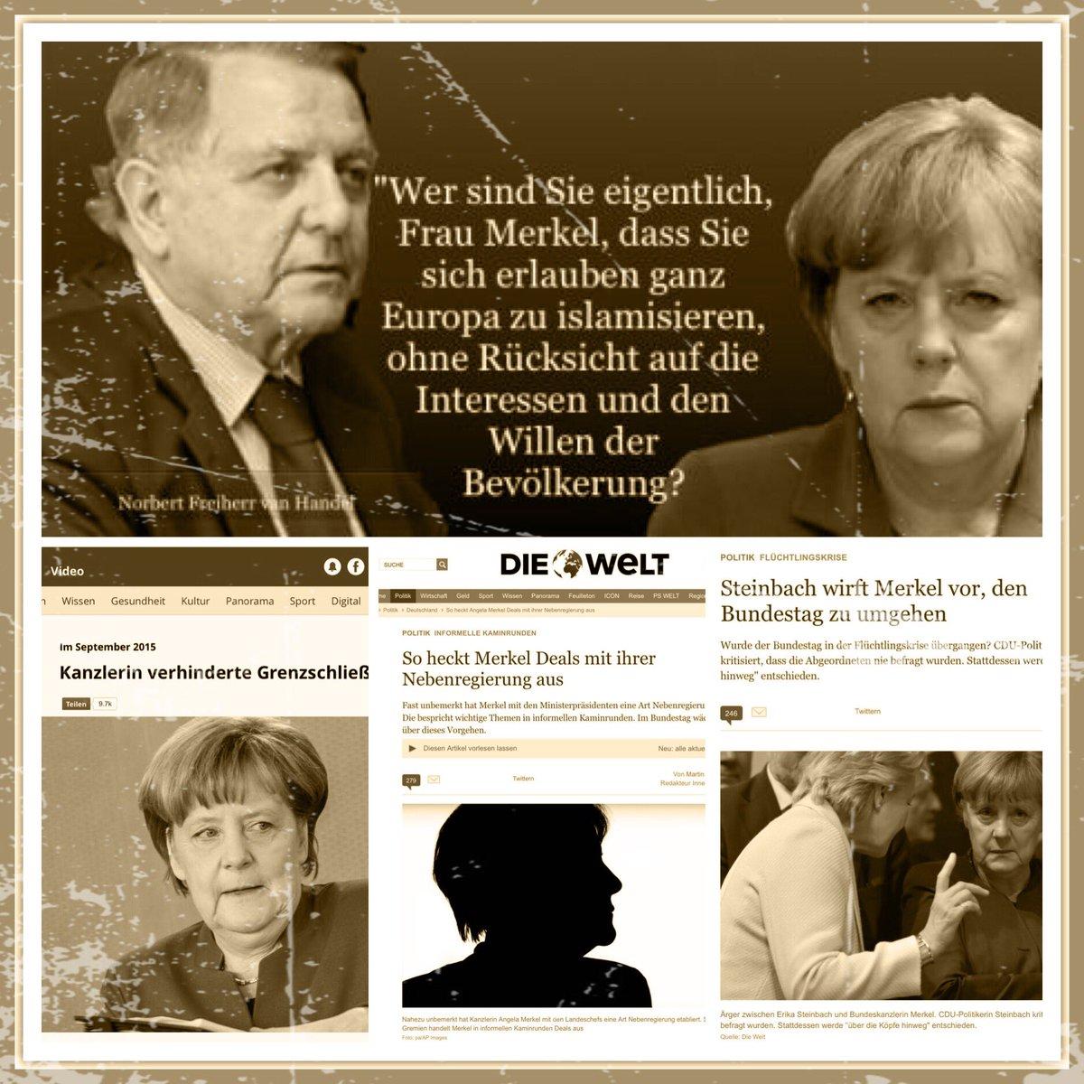 Wer sind sie eigentlich, Frau Merkel, dass sie sich erlauben, ganz Europa zu islamisieren ohne Rücksicht auf die Interessen und den Willen der Bevölkerung #Date:06.2016#