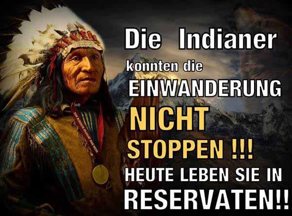 Auch die Indianer konnten die Einwanderung nicht stoppen. Heute leben sie in Reservaten. #Date:01.2016#
