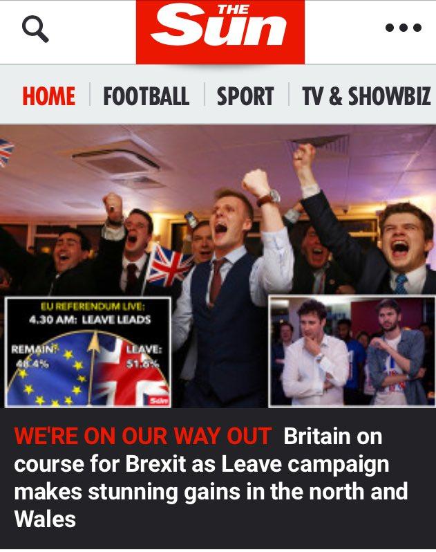 Die Briten haben für den Brexit gestimmt und damit gegen einen Superstaat EU. Der Moloch steht nun auf tönernen Füssen. Zurück zu einem Europa der Vaterländer. Leute wie Schulz und Junckers in die Produktion #Date:06.2016#
