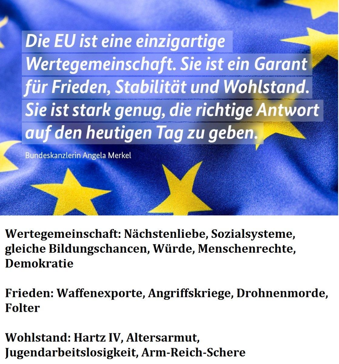 Das ist die Merkel-EU. Demokratiefeindlich, ein Moloch, der Deutschland als Spielball Merkels zerstört. #FCK?? #Date:06.2016#