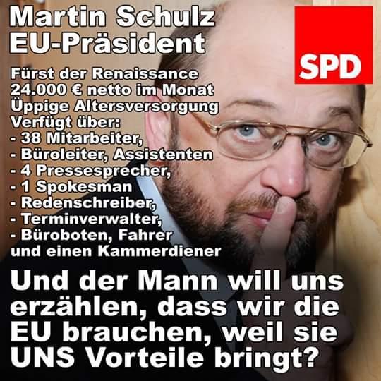 Martin Schulz SPD und EU-Präsident, die allergrößte Lachnummer aller Zeiten. Buchhändler kassiert und will im Geschäft bleiben. #Date:06.2016#