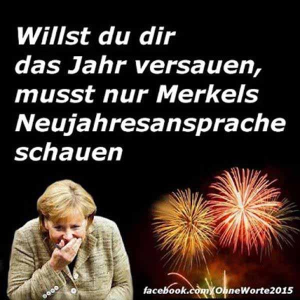 Willst du mir das Jahr versauen, musst nur Merkels Neujahrsansprache schauen #Date:12.2015#