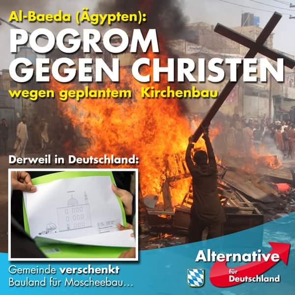 Während in Ägypten ein Progrom an Christen wegen eines geplanten Kirchenbaus stattfindet, wird in Deutschland von Stadt in NRW Bauland für Moscheebau geschenkt #Date:06.2016#