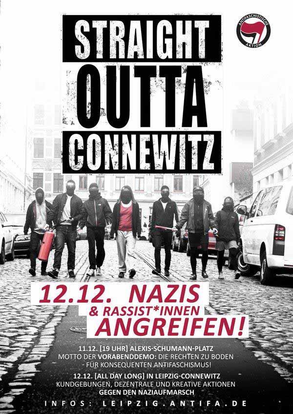Antifa-Kretins rufen zu Gewalt auf. Straflos freilich, gell Herr Heiko Mittelmaas #Date:12.2015#