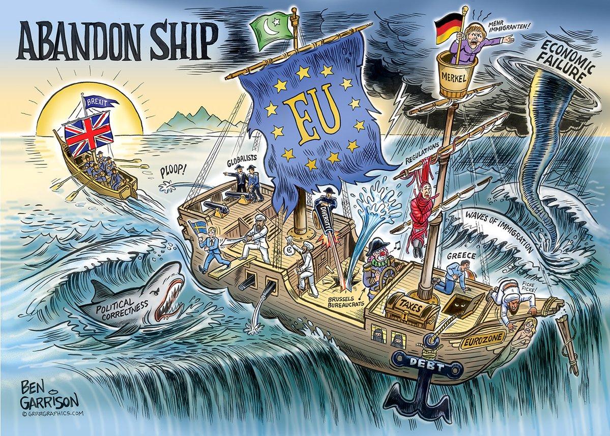 Bild zum Thema Die Situation der EU nach dem Brexit excellent illustriert. Ein Bild sagt mehr als tausend Worte.