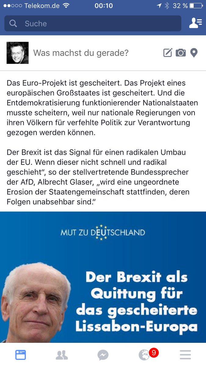 Die EU als Superstaat ist gescheitert. Auch der Vertrag von Lissabon für mehr Demokratie in der EU hat sich als Nullnummer erwiesen. EU hat nur eine Chance als Europa der Vaterländer. #Dexit?? #FCK?? #EuropaDerNationen? #Date:06.2016#