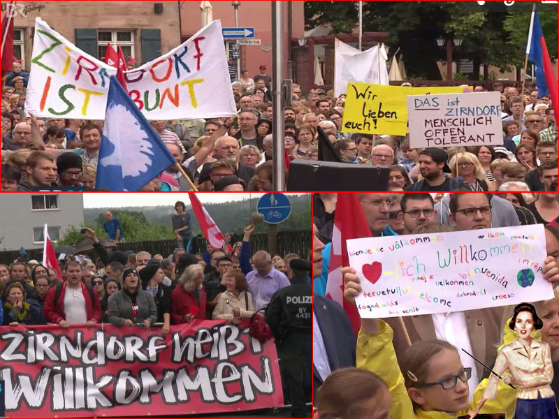 Zirndorf lebt seit 60 Jahren vom Asylantentum. Da ist man natürlich sofort im Kampfmodus, wenn die bösen Rechten an die Pfründe wollen. #DeutschlandKrassPervers? ???  #Date:06.2016#