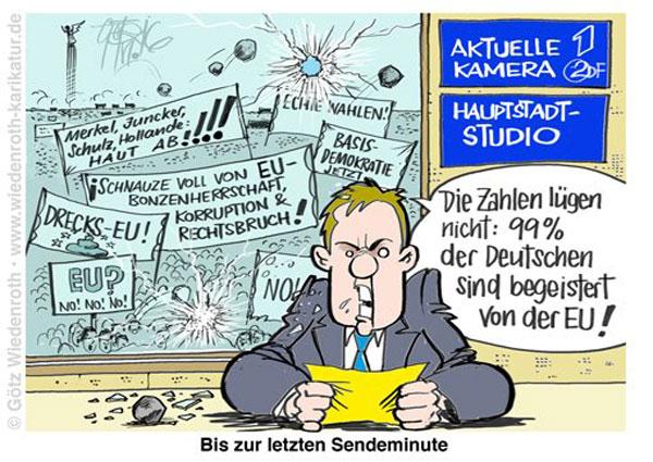 Bild zum Thema Lügen, Lücken, Verschweigen, Umdeuten, Erfinden bis zur letzten Sendeminute. ARD und ZDF im Pinocchiomodus. So kennen wir es. Gesicht Lange Nase Fratze