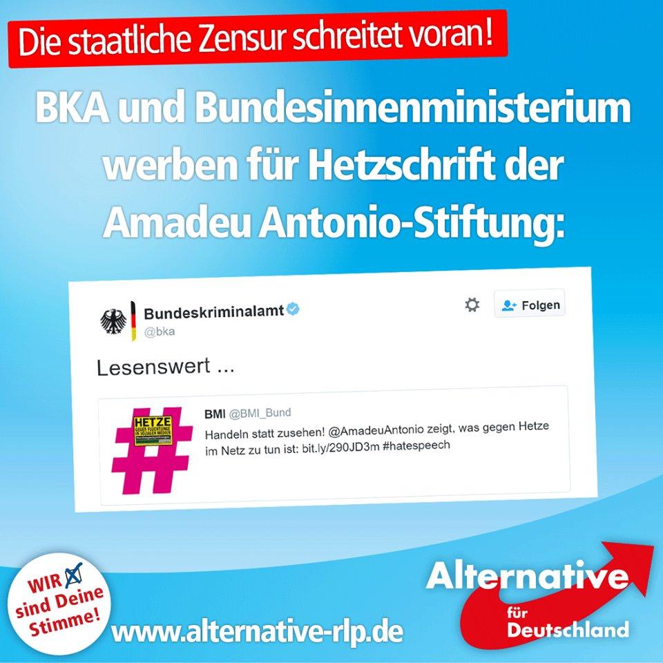 Bundeskriminalamt und Bundesinnenministerium werben für Hetzschrift der Amadeu Antonio-Stiftung. Merkeldeutschland. #Date:06.2016#