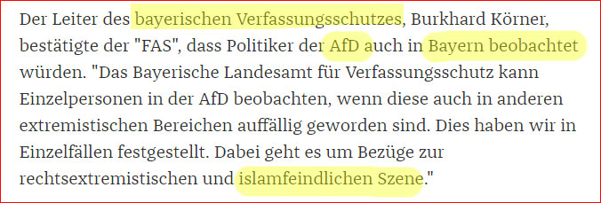 Der bayerische Verfassungsschutz unter dem Protektorat der CSU will nun auch Politiker überwachen, die eine Anti-Position zum Islam haben. #Date:06.2016#