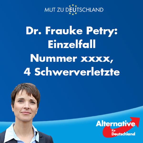 Wieder ein Einzelfall, wie tausende andere, seitdem die Bereicherer von Merkel eingeladen wurden. Diesmal Axt- und Messerattacke im Regionalzug bei Würzburg durch Afghanen. #Date:07.2016#