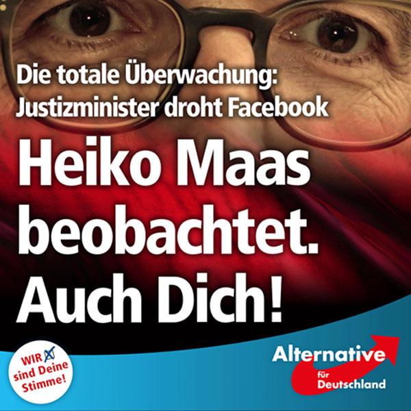 Bundeszensurminister Heiko Maas SPD drängt bei Facebook auf striktere Löschung von Einträgen. Natürlcih nur, sofern diese seiner politischen Ideologie  im Wege stehen. Bekanntlich ist Herr Maas auf dem linken Auge nicht nur blind, sondern der linken Szene aus familiären Gründen (Sohn) mehr als zugewandt. #Date:07.2016#