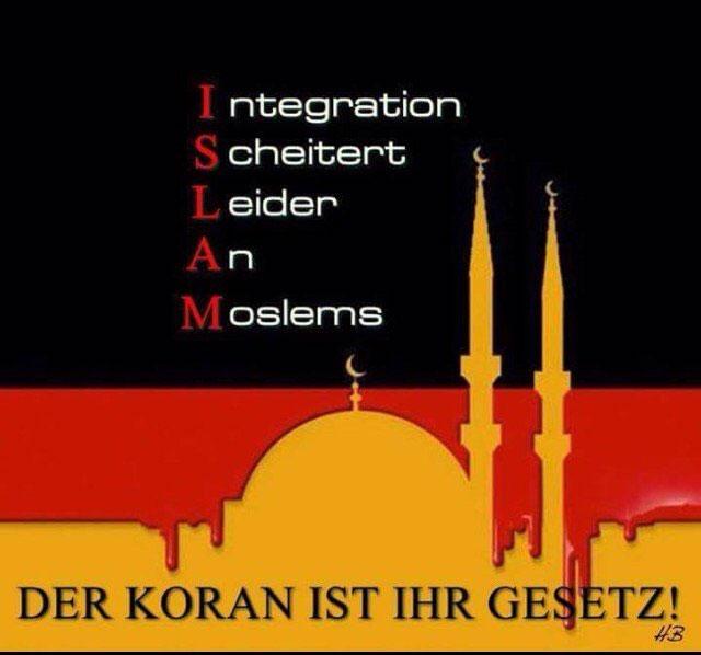 Integration scheitert leider an Muslimen. Sie wollen ihren eigenen Gottesstaat und kämpfen mit allen Kräften dafür. #Date:07.2016#