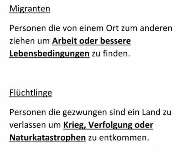 Der Unterschied zwischen Migranten und Flüchtlingen #Date:12.2015#