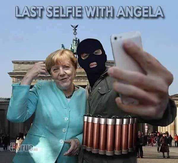 Selfie von Merkel mit Djihadisten #Date:12.2015#