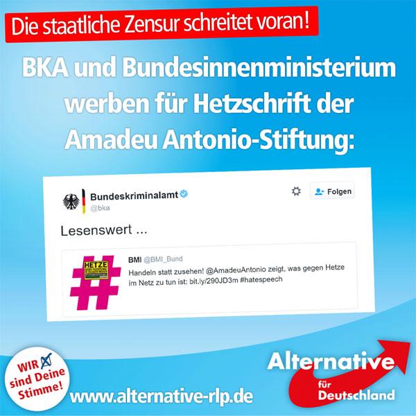 """BKA und Bundesinnenministerium (BMI) bewerben eine Hetzschrift der Antonio-Amadeu-Stiftung. Müssen sie auch: Schließlich hat das BMI den beworbenen Leitfaden in Auftrag gegeben, nachdem beispielsweise auch der ein Rassist ist, der von """"Wirtschaftsflüchtlingen"""" spricht, """"die nur aus wirtschaftlichen Gründen nach Deutschland kommen."""" Unter anderem wird gefordert: """"Blocken, blocken, blocken!""""  Tweet des BKA bzw. BMI: https://twitter.com/bka/status/750013164847243264  Hetzschrift der Amadeu-Antonio-Stiftung: http://www.amadeu-antonio-stiftung.de/w/files/pdfs/hetze-gegen-fluechtlinge.pdf #Date:07.2016#"""