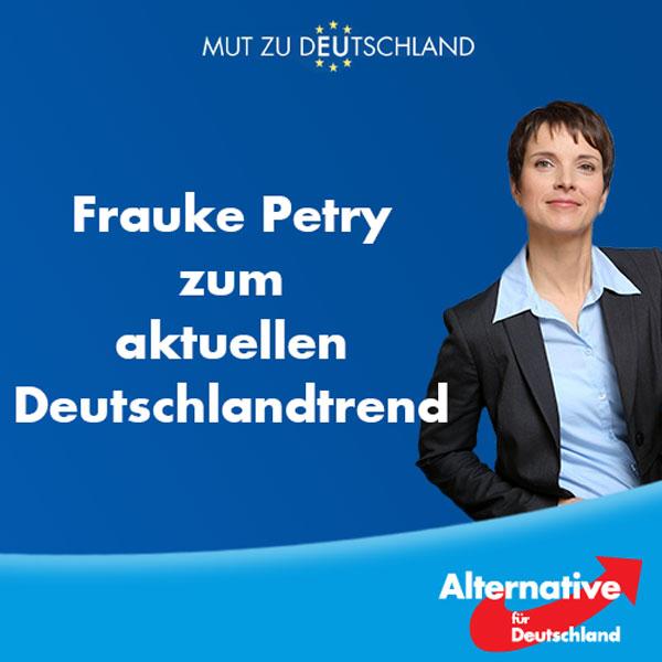 Bild zum Thema ++ ARD-Deutschlandtrend ++  Fast 2/3 der Deutschen sind gegen die Flüchtlingspolitik von Merkel. Dadurch verliert sie erdrutschartig an Zustimmung im Land.   Warum aber der zahnlose Papiertiger Seehofer an Zustimmung gewinnen soll, bleibt unverständlich. Außer hohlen Phrasen kam von ihm nichts und wenn es darauf ankam, ließ er Ultimaten immer ohne Konsequenzen verstreichen...  Es wird Zeit für Veränderungen! Zeit für die #AfD!  http://www.zeit.de/politik/deutschland/2016-08/ard-deutschlandtrend-angela-merkel-cdu-horst-seehofer-beliebtheit